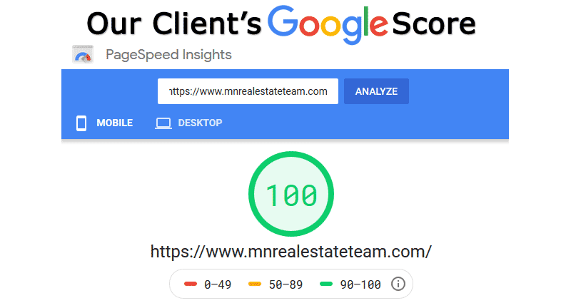 Google PageSpeed Score SEO